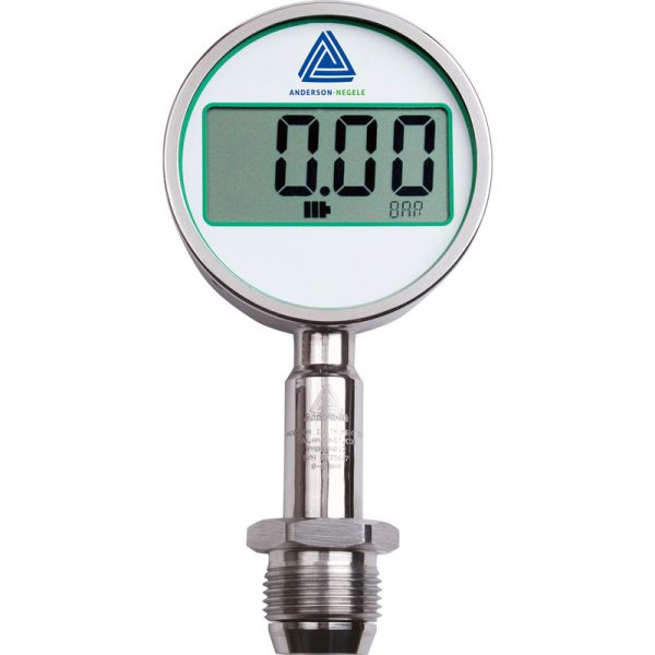 MAN-90-BAT, MAN-90P-BAT Pressure gauge with 90 mm LCD display
